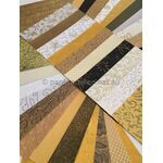 Colourific A5 pack of a large selection of Gold handmade recycled papers