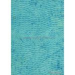 Leather Cobra Batik Aqua Blue Embossed Faux Leather Handmade Recycled paper | PaperSource