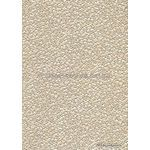 Placemat with Embossed Pebble Champagne Pearlescent Cotton handmade recycled paper aka Paperglitz Pebbles Ivory Pearl