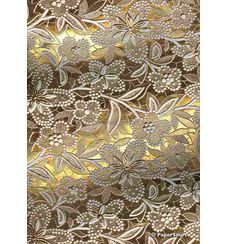 Embossed Foil Gold Foil on White Matte Cotton A4 handmade recycled paper curled aka Paperglitz Spring