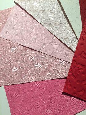 Embossed Butterfly Handmade paper