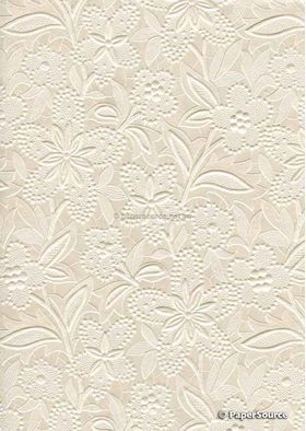 Embossed Bloom Opal Pearlescent A4 handmade paper aka Paperglitz Spring Ivory Pearl